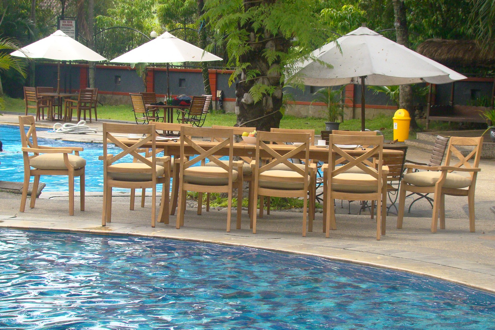 11 Pc Dining Teak Stacking Chairs Outdoor Patio Furniture Pool X3 Granada Deck Ebay