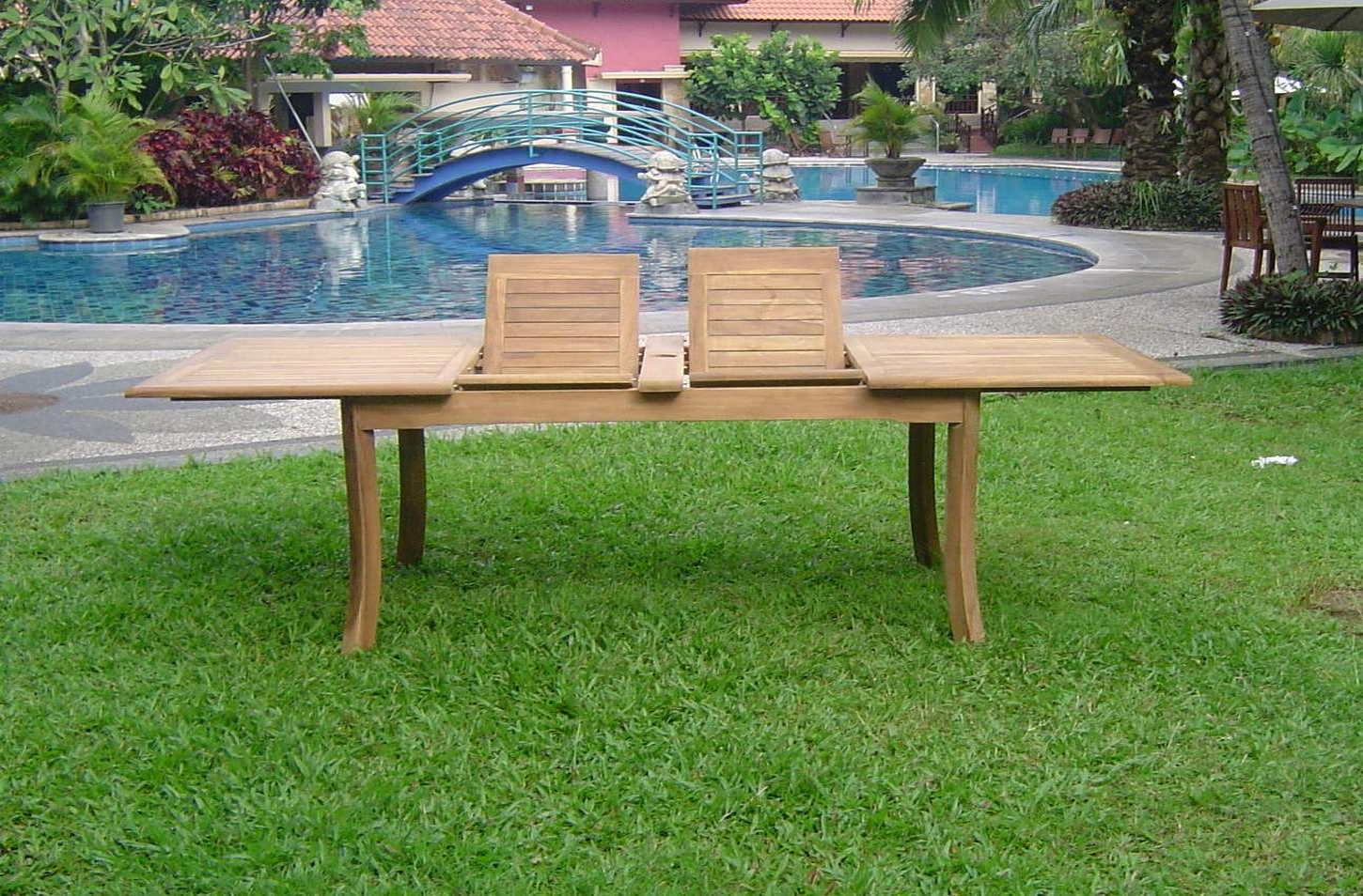 117 rectangle table a grade teak wood garden outdoor for Best deals on outdoor patio furniture