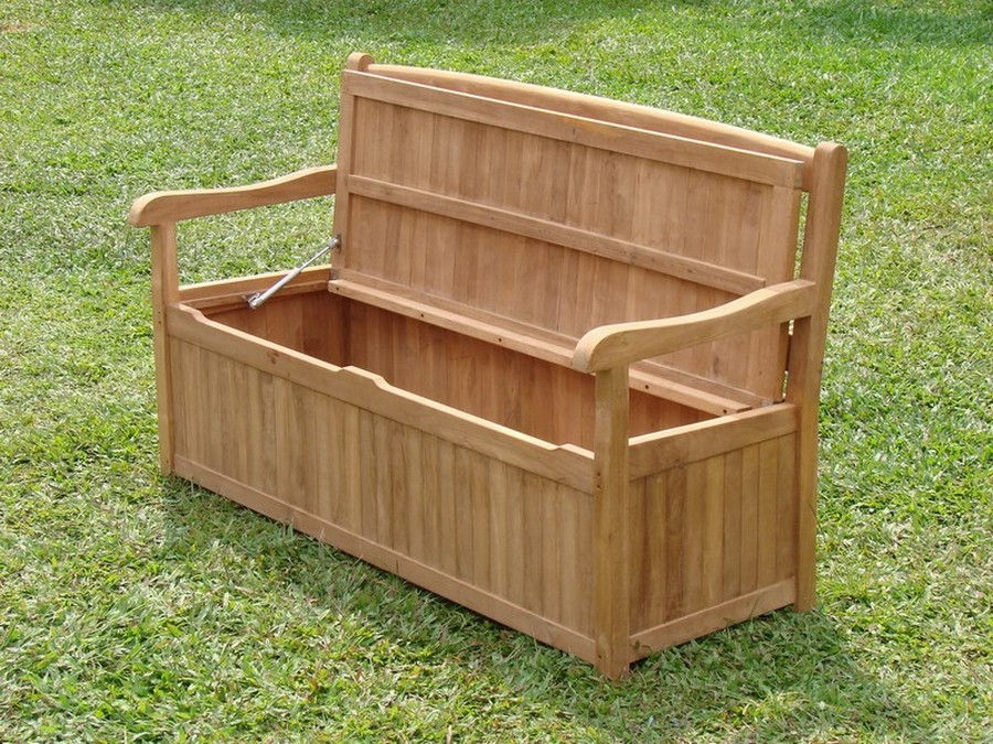 Awesome Details About 5 Feet Outdoor Patio Teak Garden Bench W Storage Box Furniture Devon Collection Evergreenethics Interior Chair Design Evergreenethicsorg