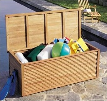 A Grade Teak 65 Quot Premium Pool Cushion Storage Box Outdoor