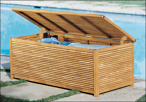 Beau Teak Storage Pool Box