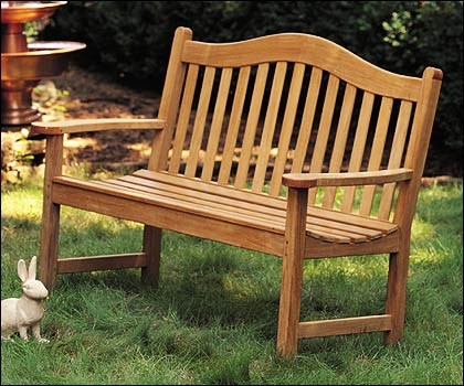 5 feet outdoor teak wood bench patio furniture garden new terra deck collection ebay - Outdoor furniture foot pads ...