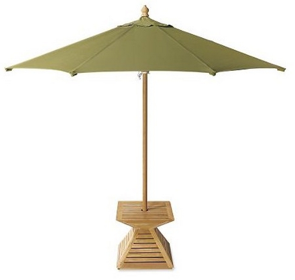 Umbrella Stand For Garden: GRADE A INDONESIAN TEAK WOOD UMBRELLA STAND COVER BASE