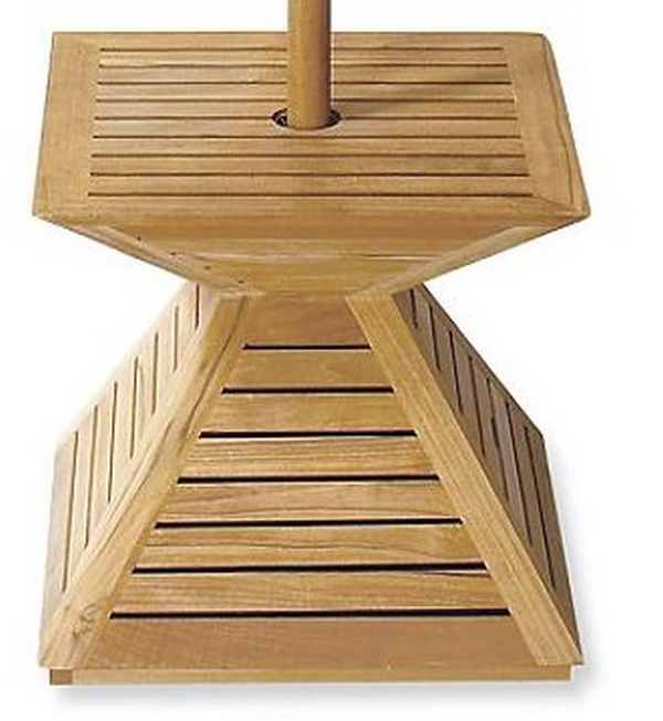 A Grade Indonesian Teak Wood Umbrella Stand Cover Base For Outdoor Patio