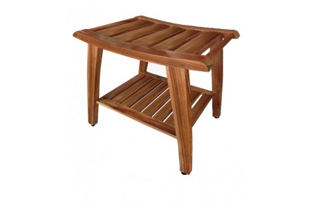 "20"" Teak Shower Bench - All Teak Wood"