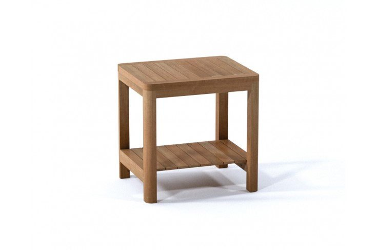 24 Quot Dublin Teak Shower Bench With Shelf Teak Outdoor Furniture
