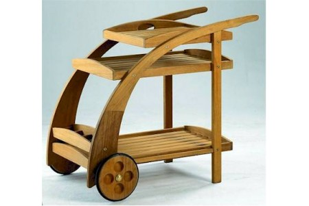 Teak Trolley Serving Cart