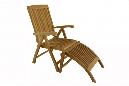 Beau Marley Reclining/Folding Chair With Footrest