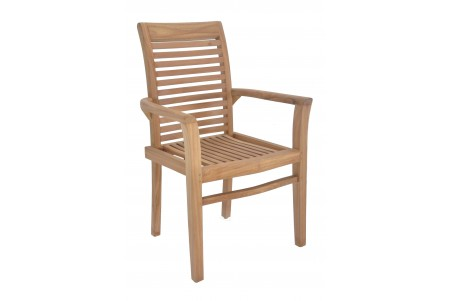 Mas Stacking Arm Chair