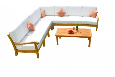 8 PC Napa Sectional Sofa Set - 2 Love Seats, 4 Chairs, 1 Corner Seat and 1 Coffee Table