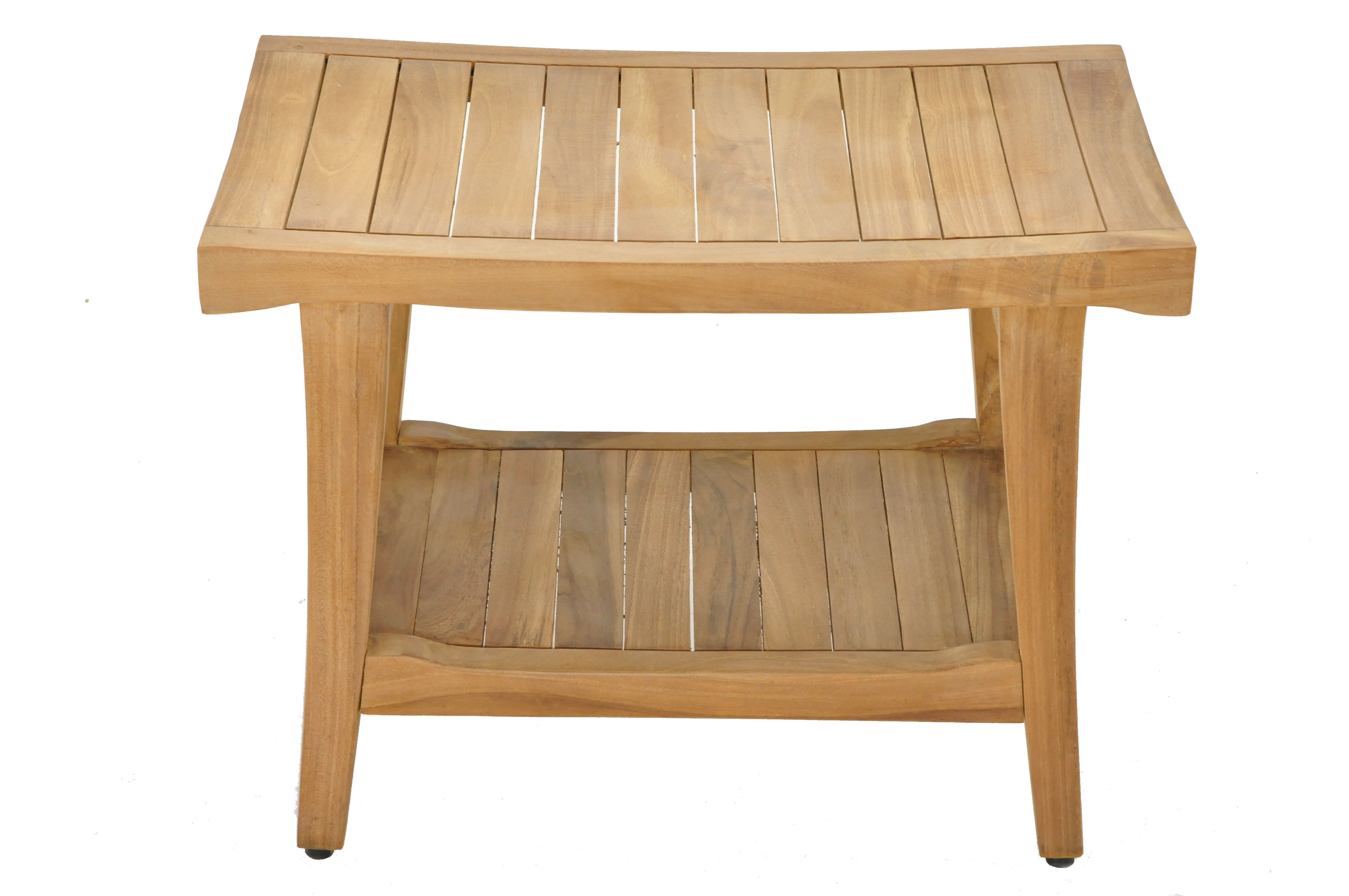24 Quot Milan Teak Shower Bench With Shelf Teak Outdoor