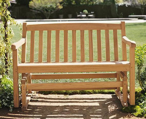 Teak Wood Garden Outdoor Patio Glider Bench New Devon