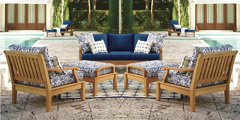 7 Pc Teak Sofa Set Garden Outdoor Patio Furniture Pool Deck Sack Dining Nw Ebay