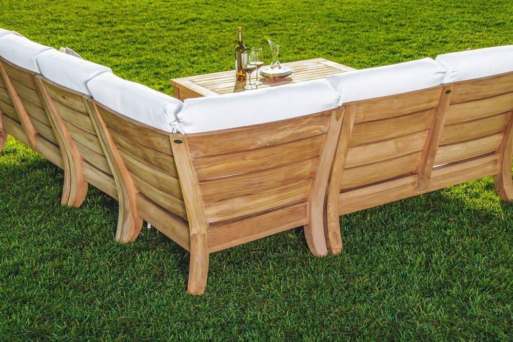 wood outdoor sectional. Beautiful 5 Piece A Grade Teak Dining Patio Set \u0026 Pool 2 LoveSeats, 1 Corner Piece, Armless Chair And Coffee Table Wood Outdoor Sectional R