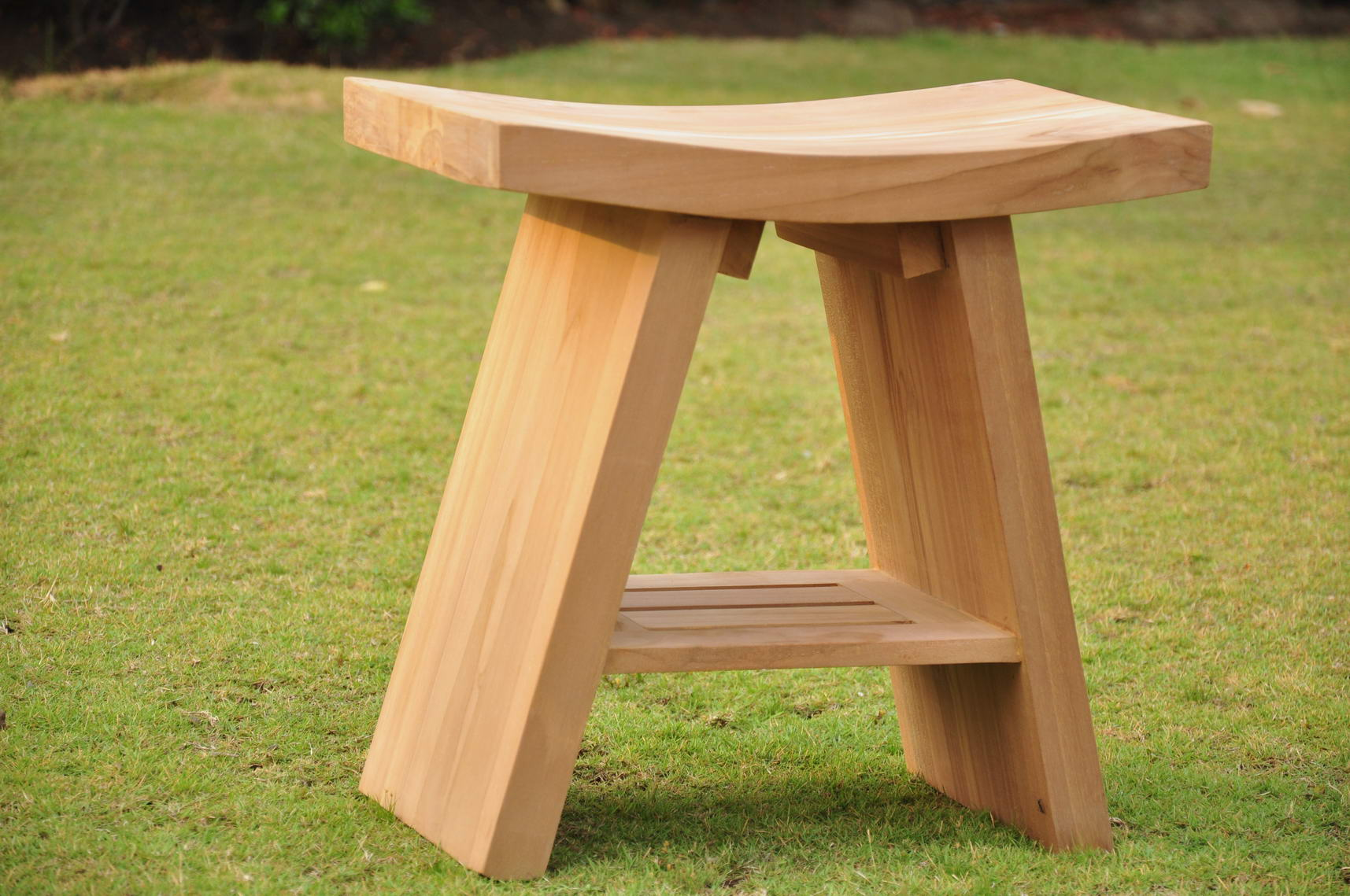 Solid Teak Shower Bench | Home design ideas