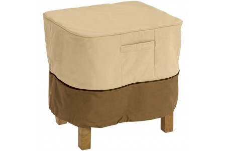 """Extra Small Ottoman Side Table Cover - (21"""" L x 21"""" W x 17"""" H) #70972"""