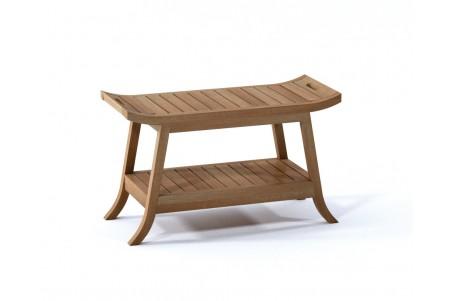 "30"" Adelaide Teak Shower Bench with Shelf"
