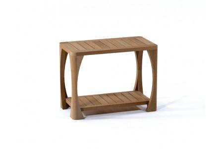 """24"""" Athena Teak Shower Bench with Shelf"""