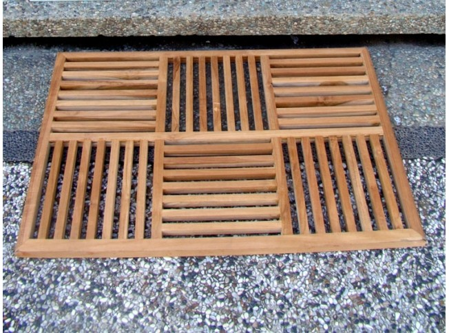 36 Quot Teak Basket Weave Floor Mat Teak Outdoor Furniture