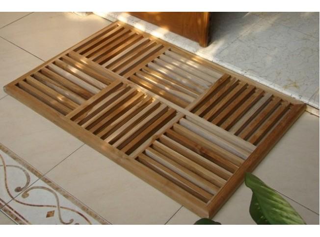 36 Teak Basket Weave Floor Mat Teak Outdoor Furniture