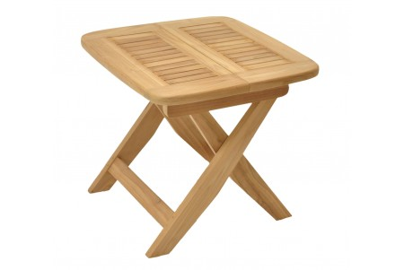 "23.5"" Kingston Folding Square Side End Table / Stool"