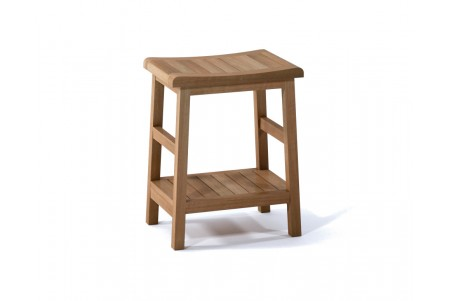 "18"" Manchester Teak Shower Bench with Shelf"