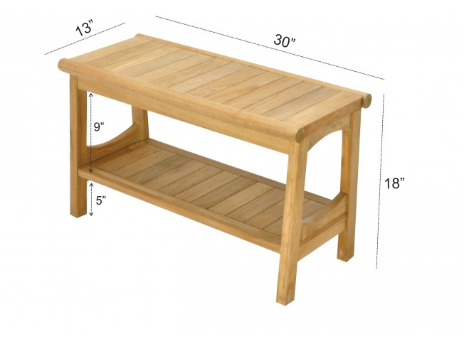 Astounding 30 Perth Teak Shower Bench With Shelf Teak Outdoor Furniture Caraccident5 Cool Chair Designs And Ideas Caraccident5Info