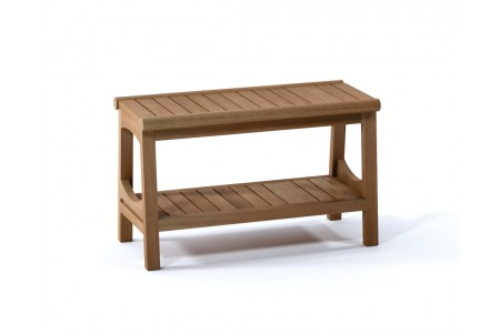"30"" Perth Teak Shower Bench with Shelf"