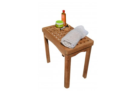 "20.5"" Teak Shower Stool"