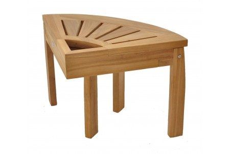 "19"" Teak Corner Stool - All Teak Wood"