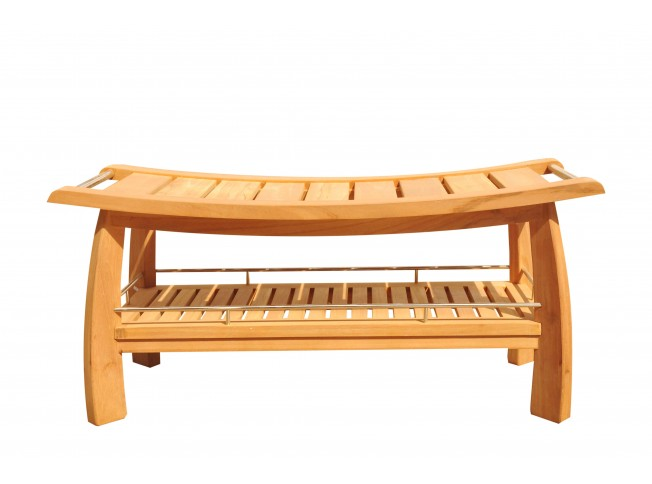 Estate Size Teak Shower Bench - Teak Outdoor Furniture