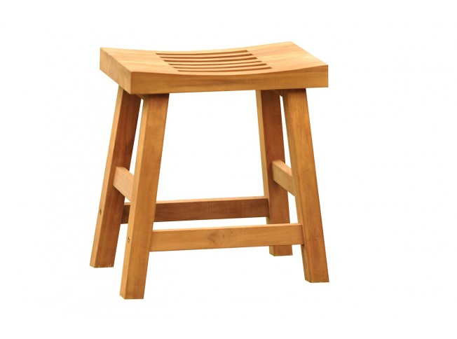 16 Quot Curved Single Seat Teak Shower Bench Teak Outdoor