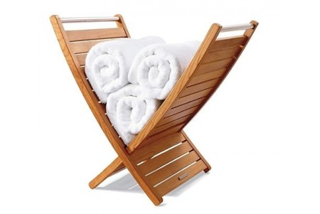 Teak Towel Holder / Rack