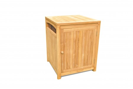 Teak Outdoor Trash Receptacle or Towel Hamper