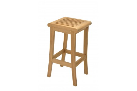 Teak Giva Backless Bar Stool