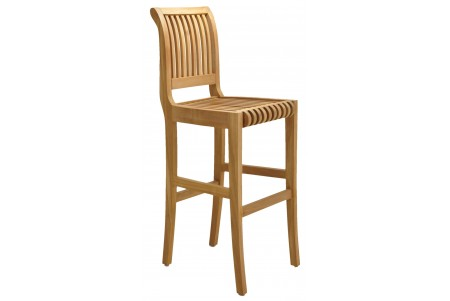 Teak Giva Bar Armless Chair