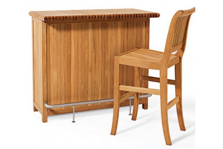 Giva 3 Piece Bar Set - Bar Cabinet With 2 Bar Armless Chairs