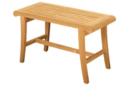 "Teak Occassional Bench (34"")"