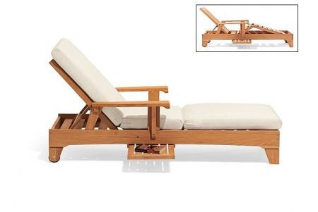 Teak Caranas Chaise Lounger