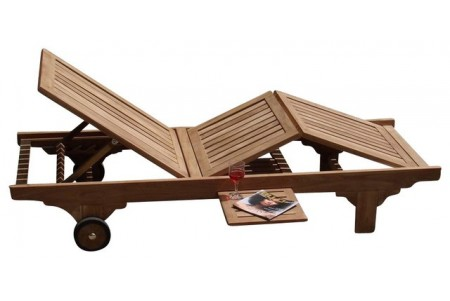 Teak Quatro Chaise Lounger
