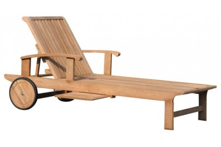 Teak Sack Chaise Lounger