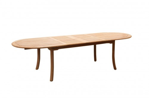 "117"" Double Extension Oval Dining Table"