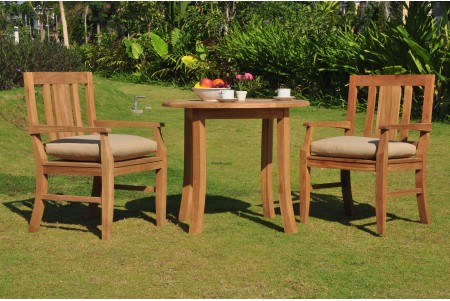 "3 PC Dining Set - 36"" Round Table & 2 Osborne Arm Chairs"