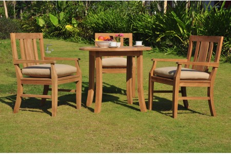 "4 PC Dining Set - 36"" Round Table & 3 Osborne Arm Chairs"