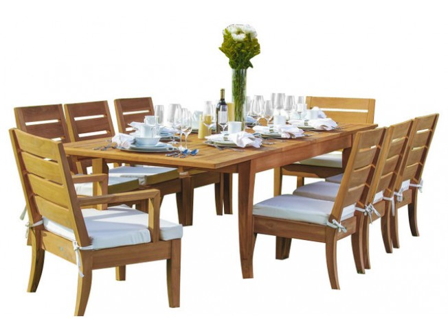 """94"""" Double Extension Rectangle Table & 8"""