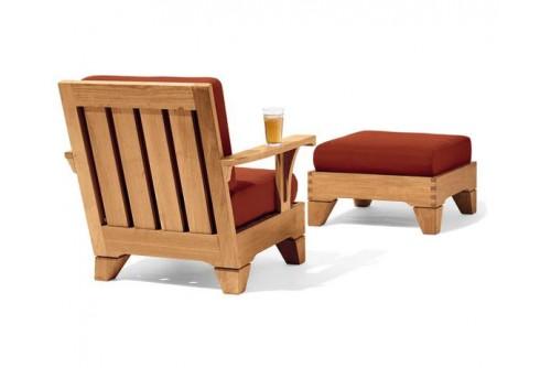 2 PC Caranas Sofa Chair Set - 1 Lounge Chair and 1 Ottoman