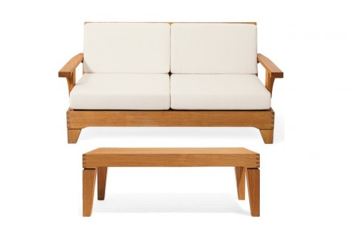2 PC Caranas Sofa Chair Set - 3 Seater Sofa and 1 Coffee Table