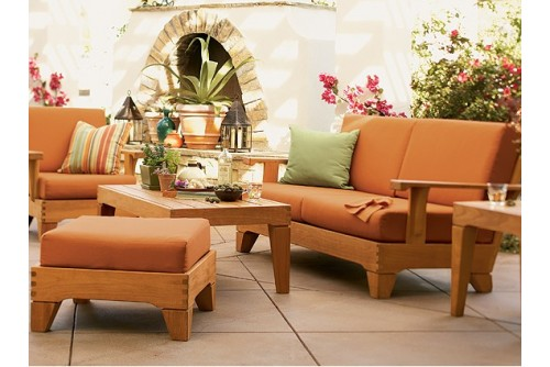 6 PC Caranas Sofa Set - 3 Seater Sofa, 2 Lounge Chairs, 1 Ottoman, 1 Coffee Table and 1 Side Table
