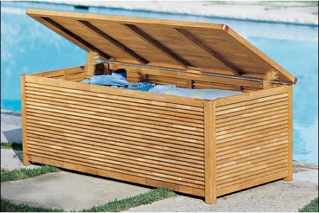 Teak Storage/Pool Box