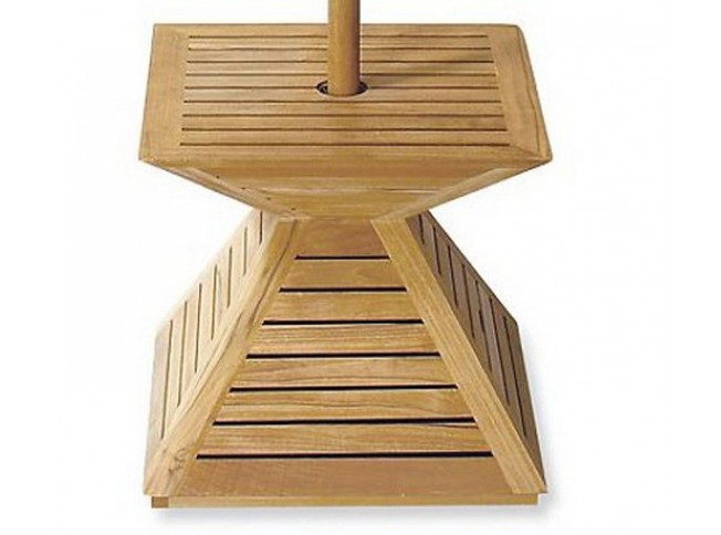 Teak Umbrella Stand Base Cover